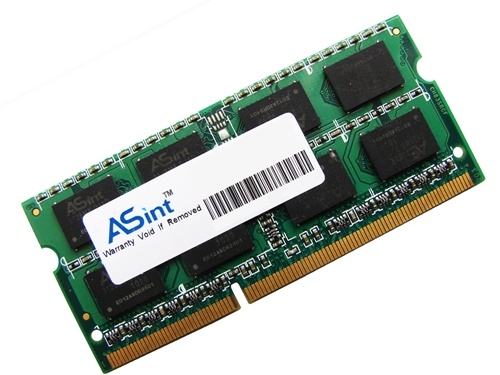 ASint SSA302G08-EDJ1C 4GB 2Rx8 PC3-10600 1333MHz 204pin Laptop / Notebook SODIMM CL9 1.5V Non-ECC DDR3 Memory Full Technical Specs and Reviews