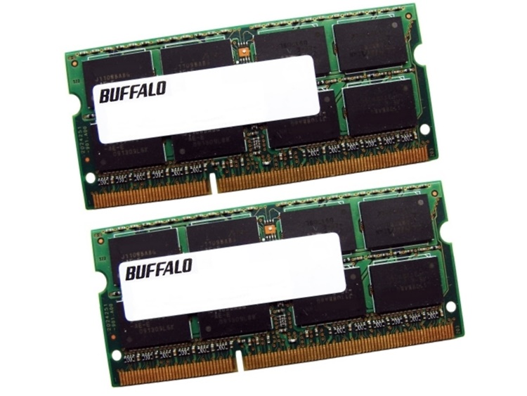 Buffalo D3N1600-4GX2/E 8GB (2 x 4GB Kit) PC3-12800 1600MHz 204pin Laptop / Notebook SODIMM CL11 1.5V Non-ECC DDR3 Memory Full Technical Specs and Reviews