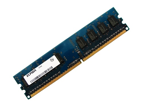 Elpida EBE21UE8AFFA-8G-F PC2-6400U-666 2GB 2Rx8 240-pin DIMM, Non-ECC DDR2 Desktop Memory Full Technical Specs and Reviews