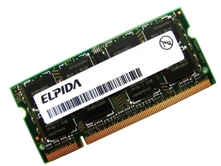Elpida EBE10UE8AFSA-6E-F 1GB PC2-5300 667MHz 200pin Laptop / Notebook Non-ECC SODIMM CL5 1.8V DDR2 Memory Full Technical Specs and Reviews